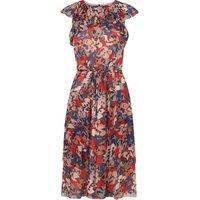Kayla Floral Silk Dress