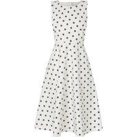 Octavia White Printed Cotton Dress