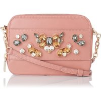 Maia Dark Pink Nappa Leather Shoulder Bag