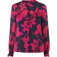 Mina Rosehip Silk Woven Top