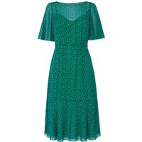 Rudy Green Silk Printed Dress