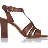 Selena Tan Leather Sandals