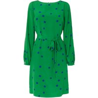 Teka Green Silk Printed Dress