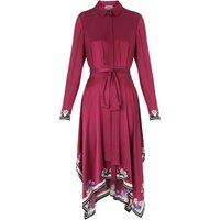 Devoto Dark Pink Silk Dress