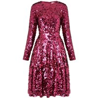 Sonic Dark Pink Sequin Dress