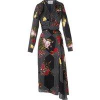 Vali Black Silk Dress