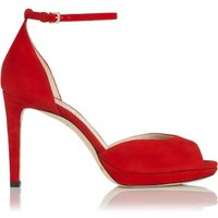 Yasmin Red Suede Formal Sandals