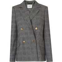 Medine Check Wool Mix Jacket