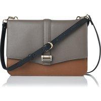 Belle Camel Leather Shoulder Bag