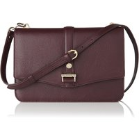 Belle Oxblood Grained Leather Shoulder Bag