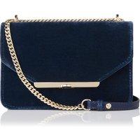 Karla Blue Velvet Nappa Shoulder Bag