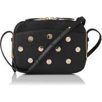 Mariel Black Studded Leather Shoulder Bag