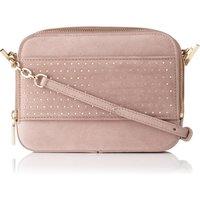 Mia Pink Suede Shoulder Bag