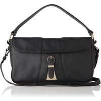 Scarlett Black Grainy Leather Shoulder Bag