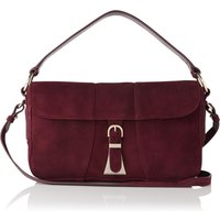 Scarlett Oxblood Suede Shoulder Bag