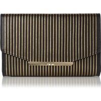 Zadie Black Gold Leather Shoulder Bag