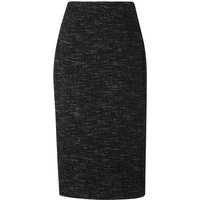Joyce Black Tweed Wool Skirt