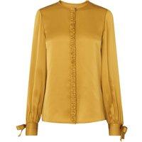 Aalia Yellow Silk Woven Top