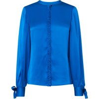 Aalia Blue Silk Woven Top