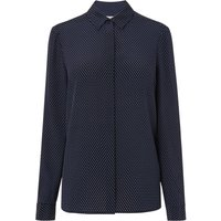Cary Navy Silk Top