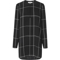 Dinah Black Check Tunic Top