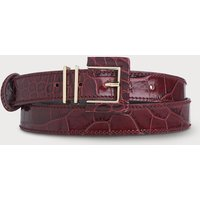 Click to view product details and reviews for Gena Wine Croc Effect Belts.