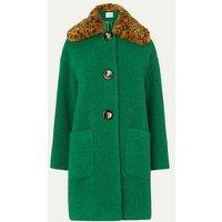 Aster Green Coat, Emerald