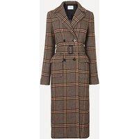 Quincy Brown Check Coat, Brown