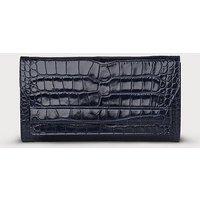 Ella Navy Croc Effect Clutch Bag, Navy