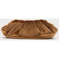 Felicity Bronze Velvet Clutch Bag, Bronze