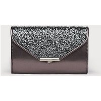 Sissi Grey Glitter Clutch Bag, Antracite