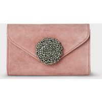 Sissi Pink Suede Clutch Bag
