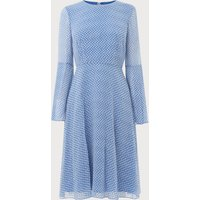 Abbie Blue White Silk Dress
