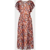 Agnes Orange Silk Dress
