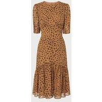 Alexa Leopard Print Silk Dress, Leopard Print