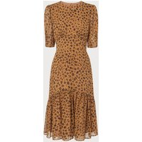 Alexa Leopard Print Silk Dress