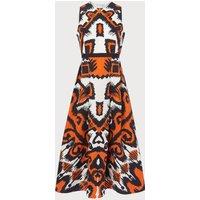Andrea Orange Dress
