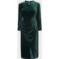 Izzy Green Velvet Dress, Green