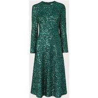 Lazia Green Sequin Dress, Green