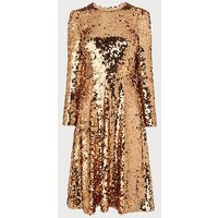 Laz Gold Sequin Dress, Gold