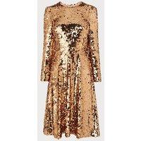 Laz Gold Sequin Dress, Gold