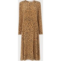 Leanie Leopard Print Silk Dress