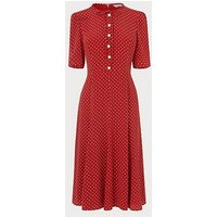 Montana Red Polka Dot Silk Dress, Burgundy