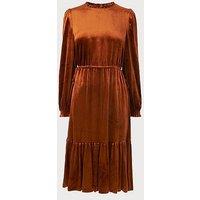 Noemi Rust Velvet Dress, Rust