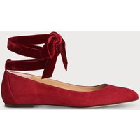 Maddy Poppy Velvet Flats