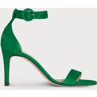 Dora Green Suede Sandals