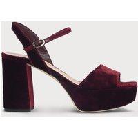 Keriss Wine Velvet Sandals