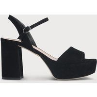 Keriss Black Suede Sandals