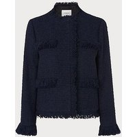 Myia Navy Tweed Jacket, Navy