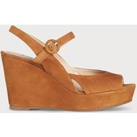 Raisa Tan Suede Sandals